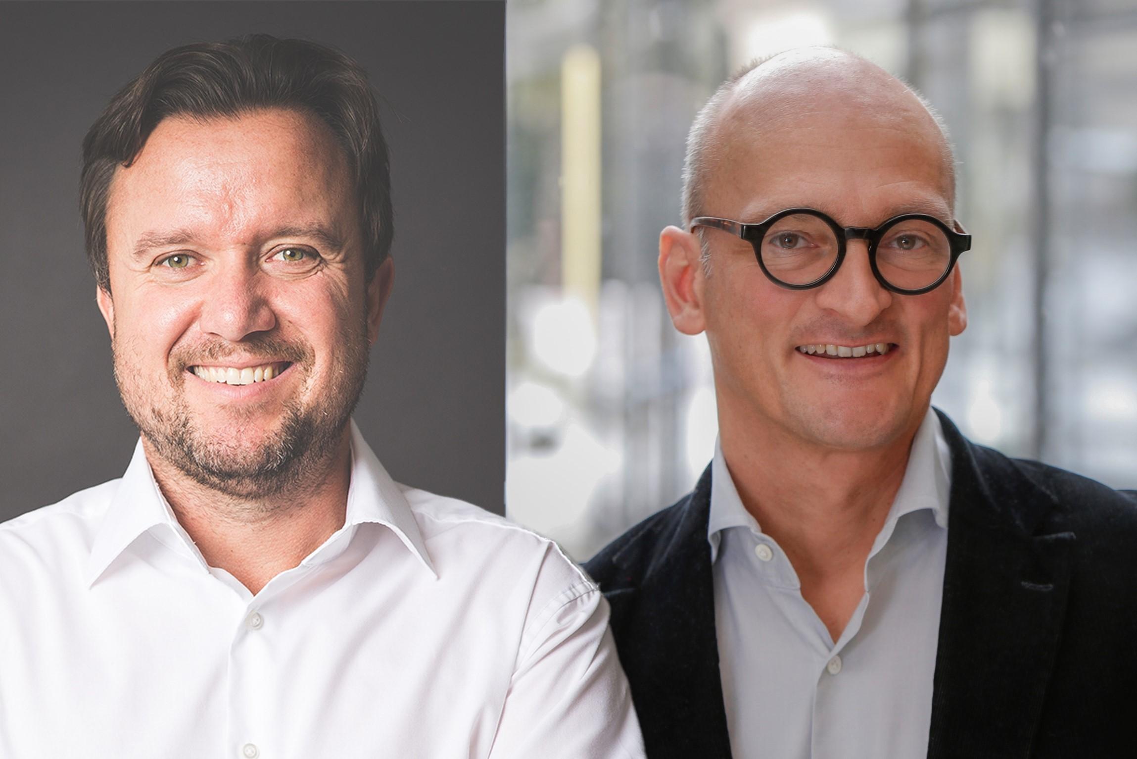 Bild von André Soulier, CEO Nayoki, und Oliver Hey, Geschäftsführer Mediaplus.